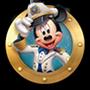 Icono de Mickey Mouse en un ojo de buey