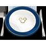 Um ícone de um prato com o símbolo do Mickey, garfo e faca