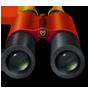 Um ícone de binóculo