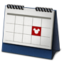 An icon of a calendar with one square marked with a Mickey symbol