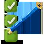 Ícone de marcação de lápis em lista de verificação