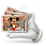 Mickey Mouse in a Stack of Photographs